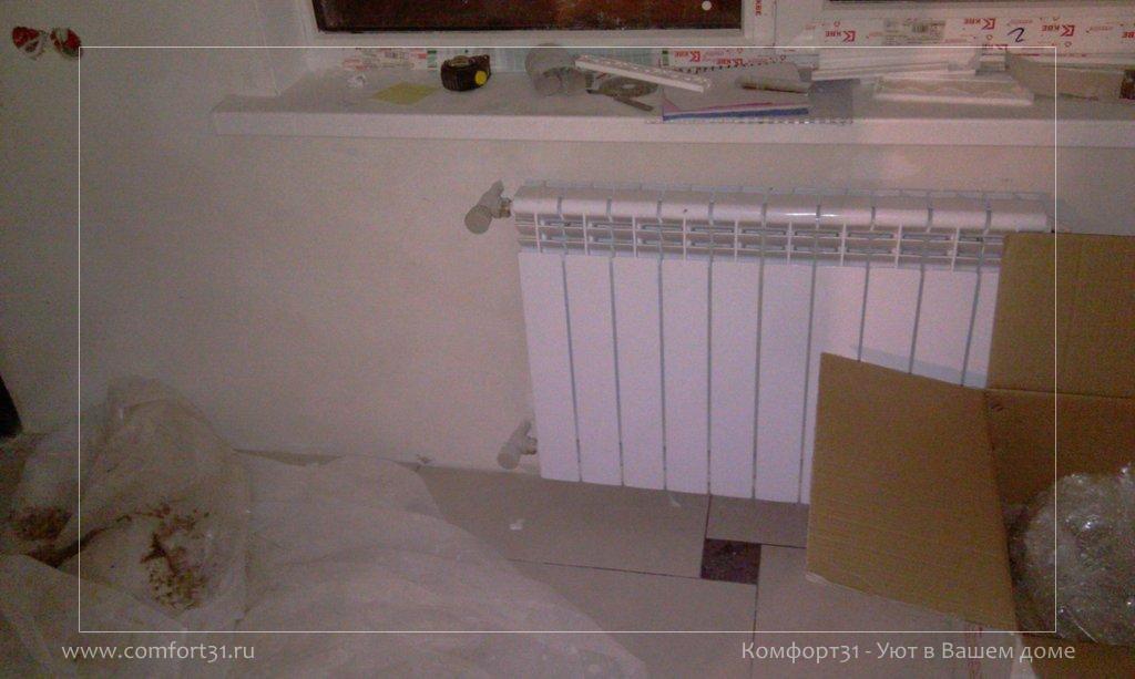 Боковое подключение радиатора.